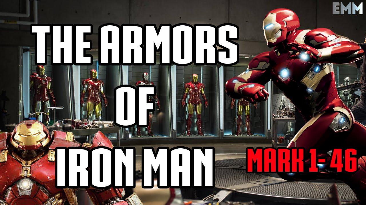 ВСЕ КОСТЮМЫ ЖЕЛЕЗНОГО ЧЕЛОВЕКА В КИНО | THE ARMORS OF IRON MAN(MARK 1-46)