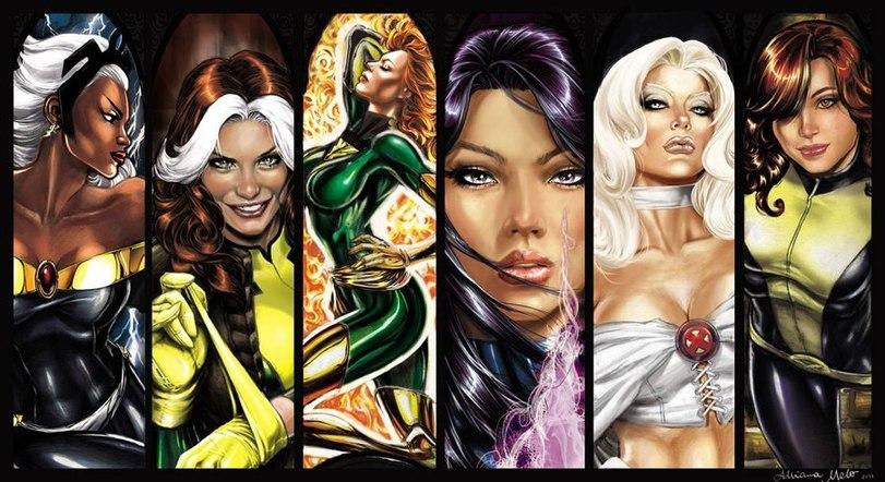 Самые сексуальные персонажи комиксов DC comics и Марвел