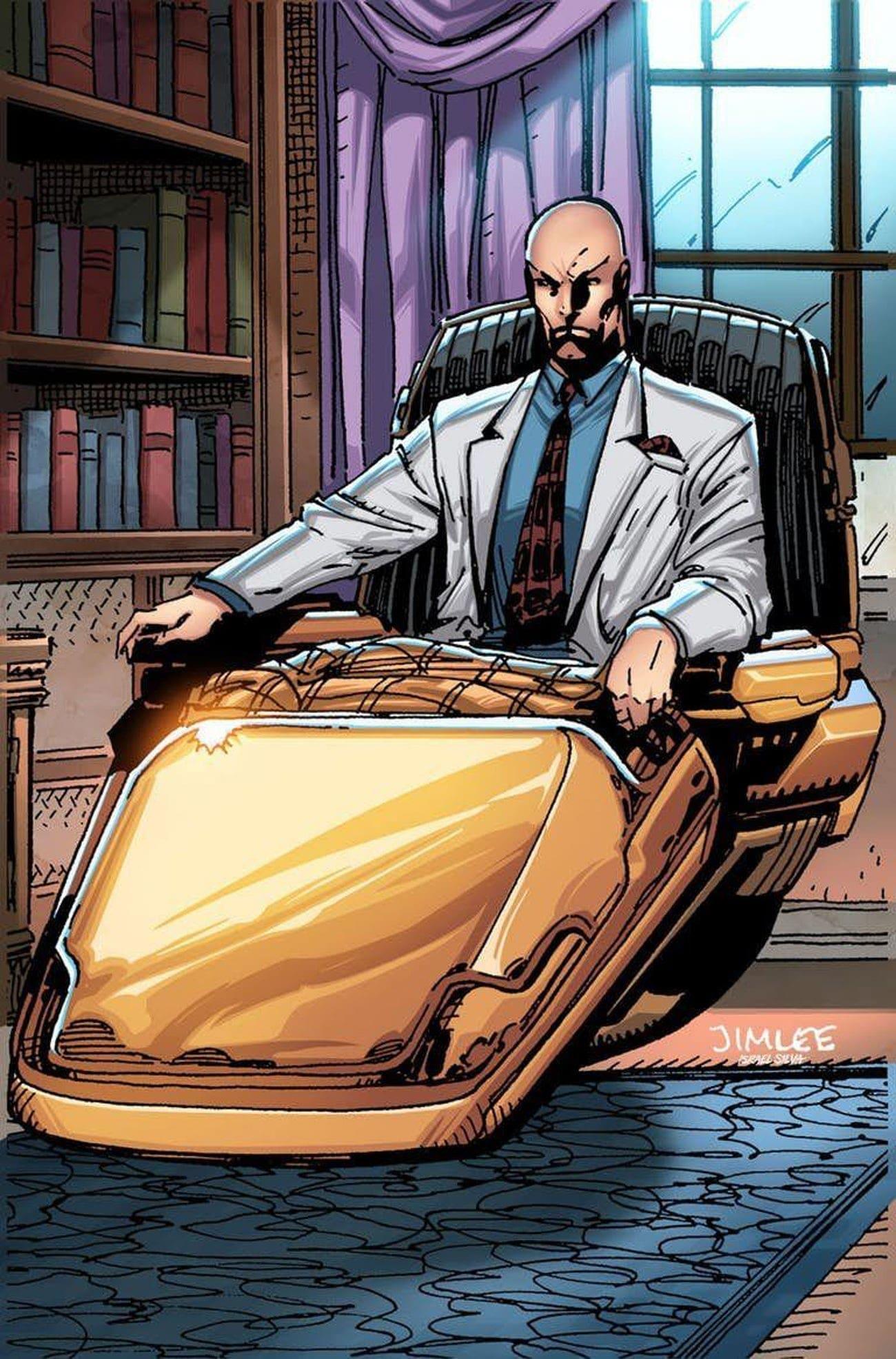 Профессор X занесен (или занимает) 1 место в списке 13 супергероев и злодеев, которые, казалось бы, инвалиды